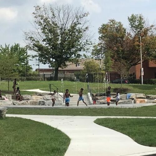 Children at play in a Baltimore park