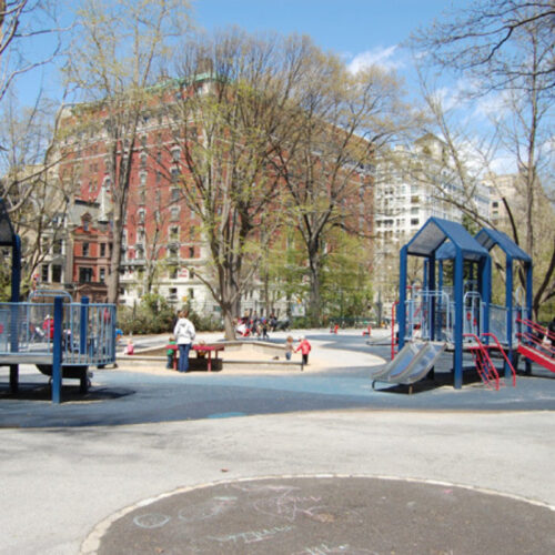 The playground in need of reconstruction