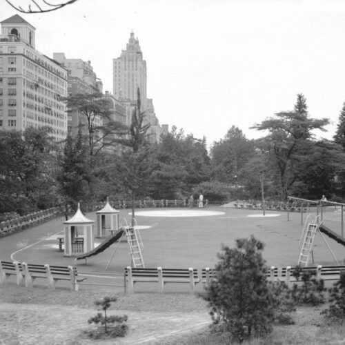 The playground seen in the 1930's