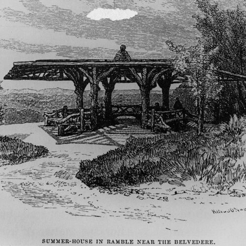 Rendering of a summerhouse on a scenic overlook
