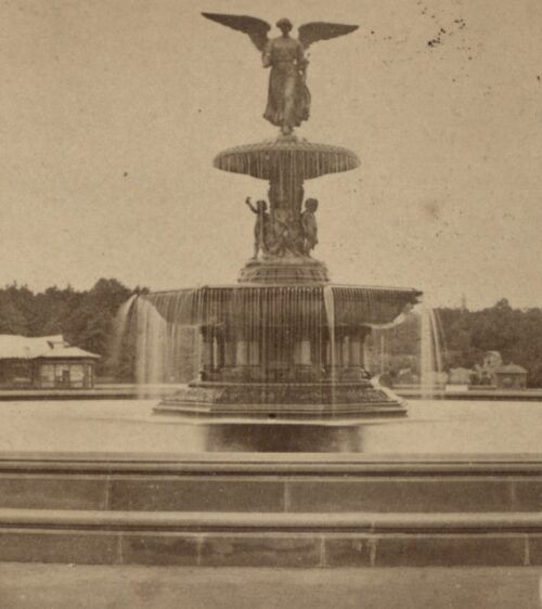 Bethesda Fountain historic photo Central Park