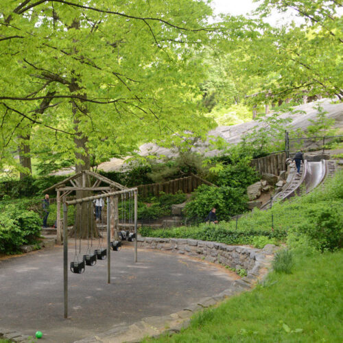 The swings at the Billy Johnson playground before reconstruction