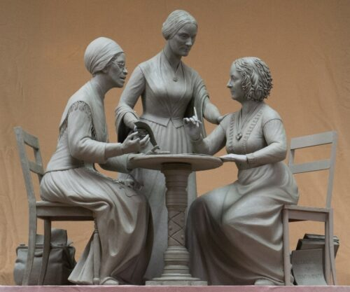 The model for the new monument, as sculpted by Meredith Bergmann
