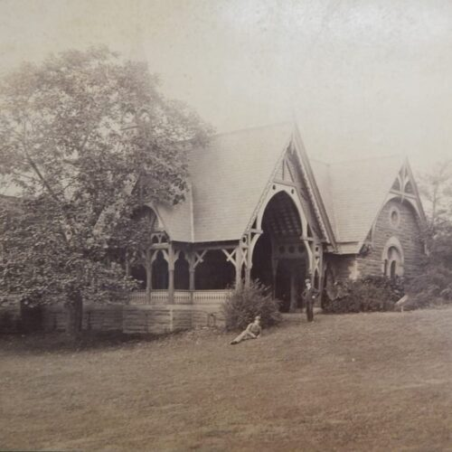 A sepia-toned photo of the Dairy in the 1880s