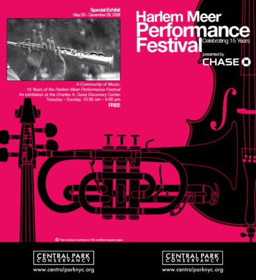 Poster for the Harlem Meer Performance Festival