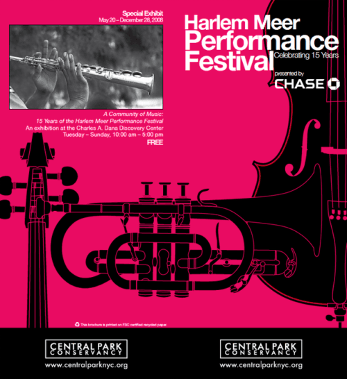Poster for the Harlem Meer Performance Festival