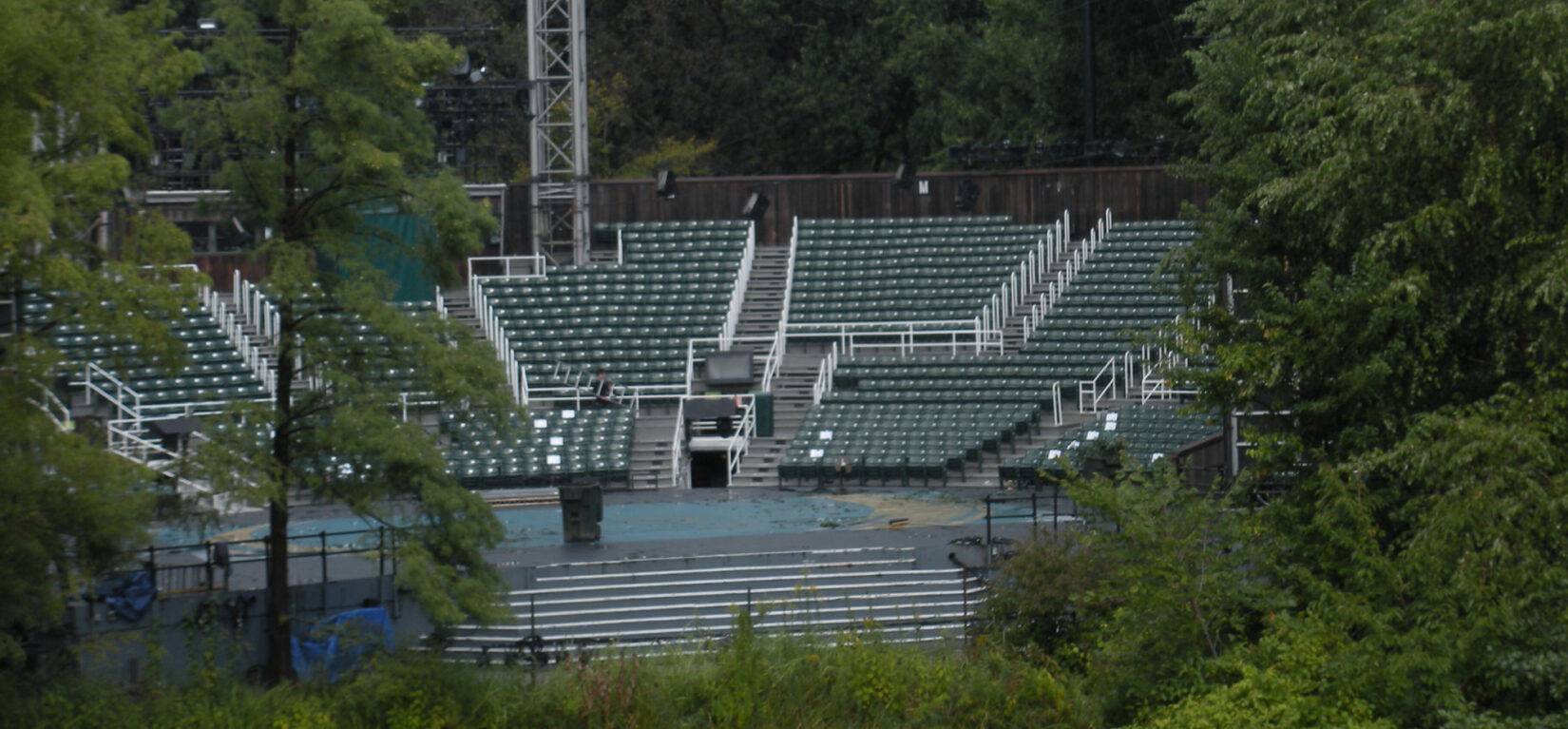 A view of the seats in the Delacorte Theater