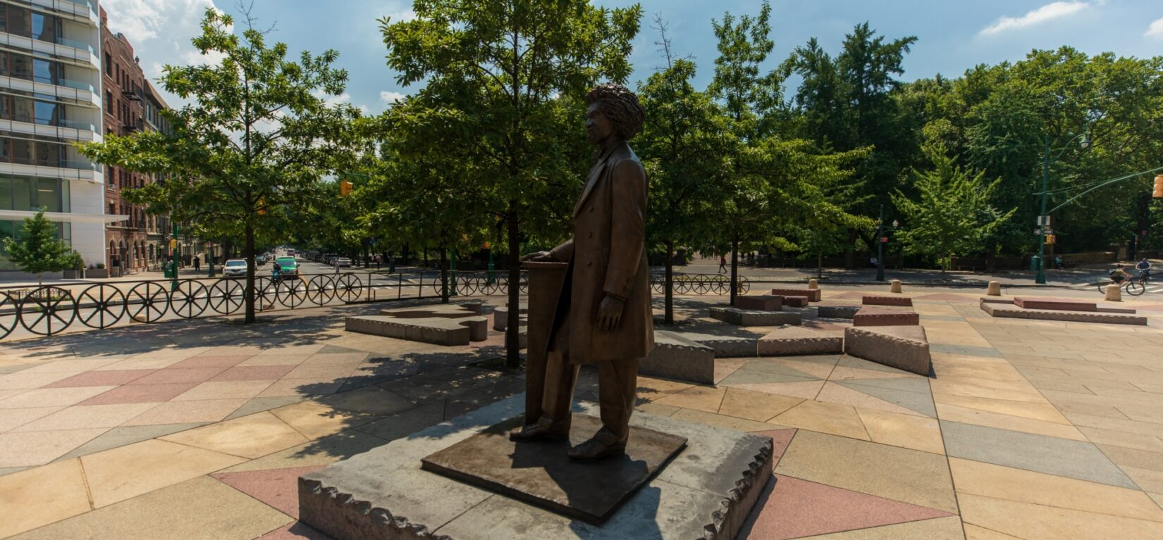 The memorial at Frederick Douglass Circle