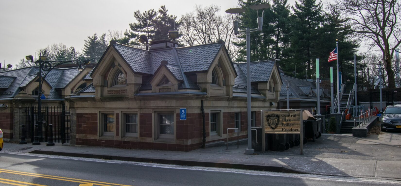 A view of the Police Precinct, which was once a horse stable