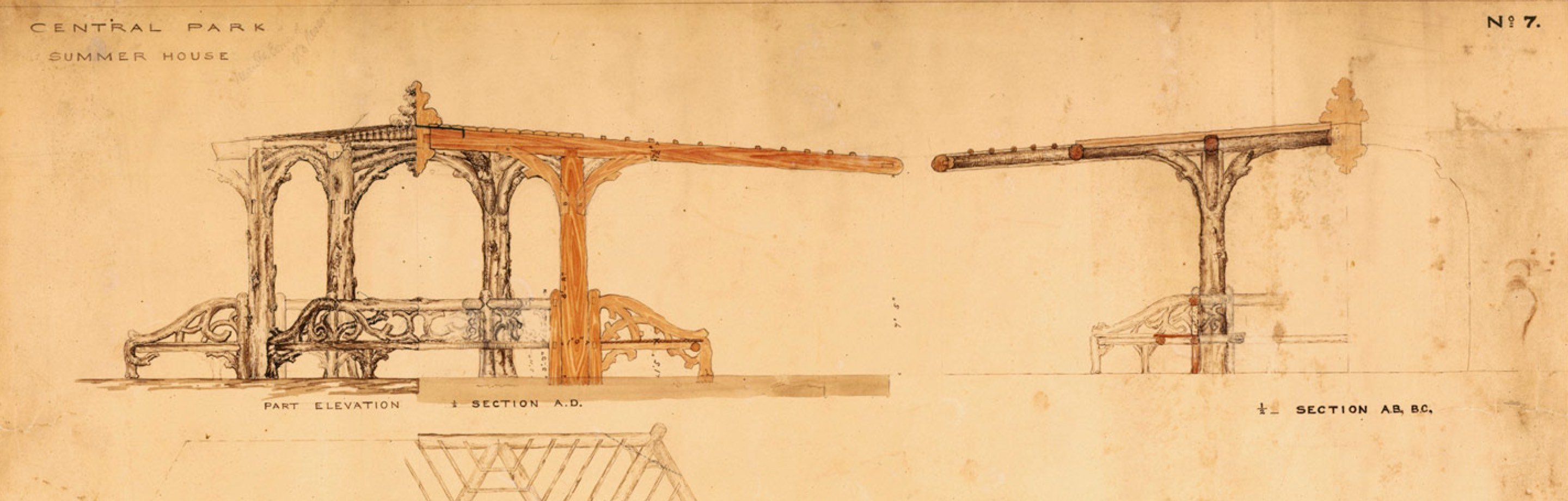 Original drawings for the Belvedere
